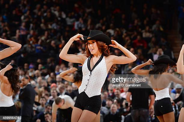 New York Knicks dancers perform during the game against the Cleveland Cavaliers on December 4 2014 at Madison Square Garden in New York City New York...