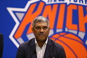 New York Knicks General Manager Steve Mills during a press conference introducing the Knicks new free agent signings at the Madison Square Garden...