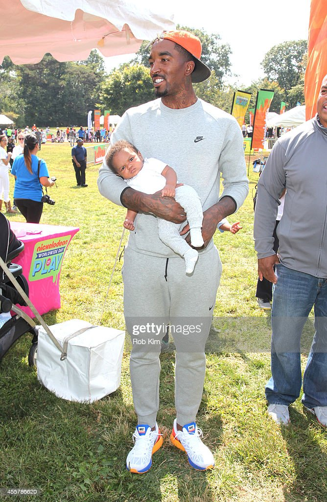 New York Knicks JR Smith attends Nickelodeon's 11th Annual Worldwide Day of Play at Prospect Park on September 20 2014 in New York City