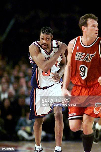 New York Knicks' Latrell Sprewell in action against the Miami Heat at Madison Square Garden