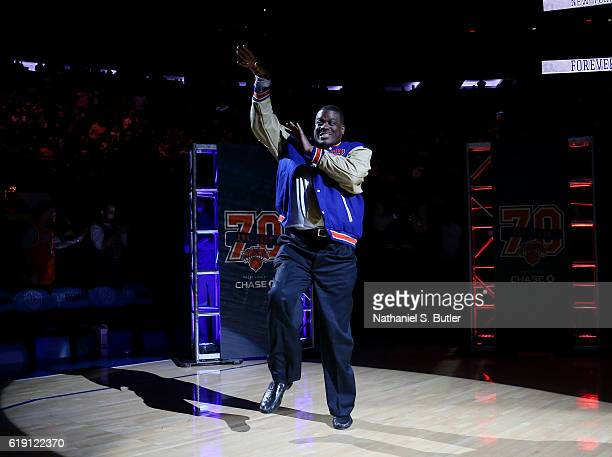 New York Knicks Legends Bernard King is seen during the game between the Memphis Grizzlies and the New York Knicks on October 29 2016 at Madison...