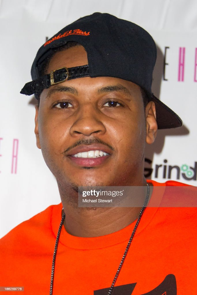 New York Knicks player <a gi-track='captionPersonalityLinkClicked' href=/galleries/search?phrase=Carmelo+Anthony&family=editorial&specificpeople=201494 ng-click='$event.stopPropagation()'>Carmelo Anthony</a> attends Flipeez Presents Kasseem's Dream Halloween Party at BKLYN BEAST on October 29, 2013 in Brooklyn, New York.