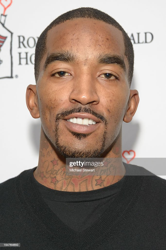 New York Knicks player <a gi-track='captionPersonalityLinkClicked' href=/galleries/search?phrase=J.R.+Smith&family=editorial&specificpeople=201766 ng-click='$event.stopPropagation()'>J.R. Smith</a> attends the 2012 Masquerade Ball Benefiting Ronald McDonald House at Apella on October 25, 2012 in New York City.
