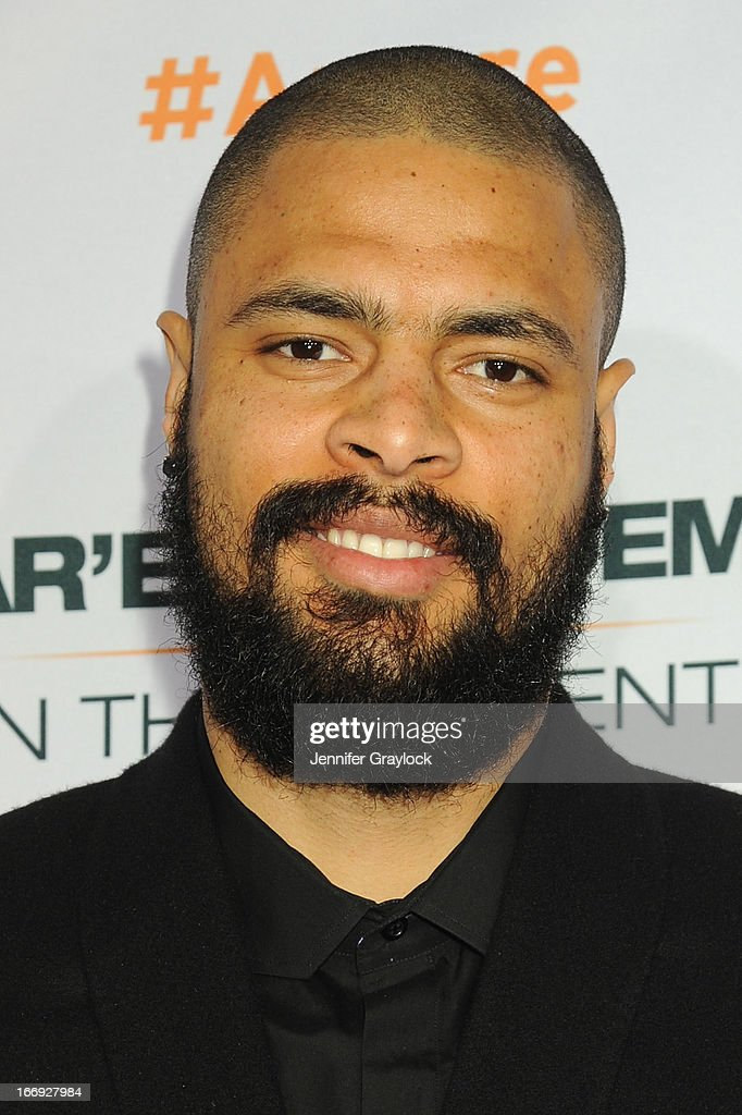 New York Knicks player <a gi-track='captionPersonalityLinkClicked' href=/galleries/search?phrase=Tyson+Chandler&family=editorial&specificpeople=202061 ng-click='$event.stopPropagation()'>Tyson Chandler</a> attends EPIX premiere of Amar'e Stoudemire IN THE MOMENT on April 18, 2013 in New York City.