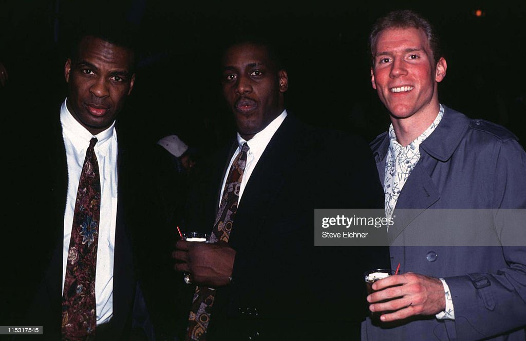 New York Knicks players in NYC - 1993