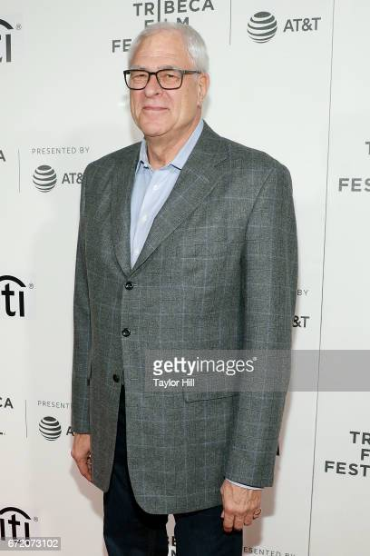New York Knicks President Phil Jackson attends Tribeca Talks during the 2017 Tribeca Film Festival at Borough of Manhattan Community College on April...