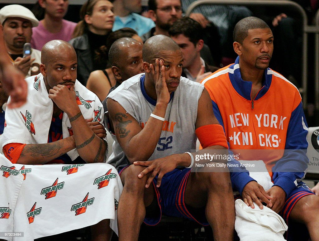 New York Knicks Stephon Marbury Steve Francis and Jalen Ro