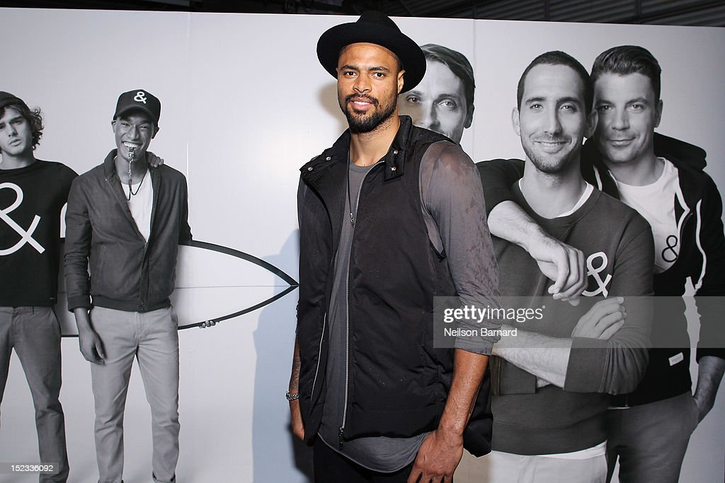 New York Knicks <a gi-track='captionPersonalityLinkClicked' href=/galleries/search?phrase=Tyson+Chandler&family=editorial&specificpeople=202061 ng-click='$event.stopPropagation()'>Tyson Chandler</a> attends The Best New Menswear Designers In America 2012 Party presented by GQ and GAP at Pier 40 Picnic House on September 18, 2012 in New York City.