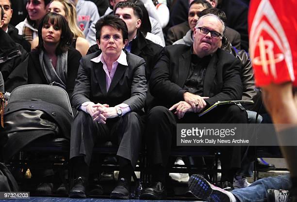 New York Knicks vs Houston Rockets at Madison Square Garden 1st half Billie Jean King