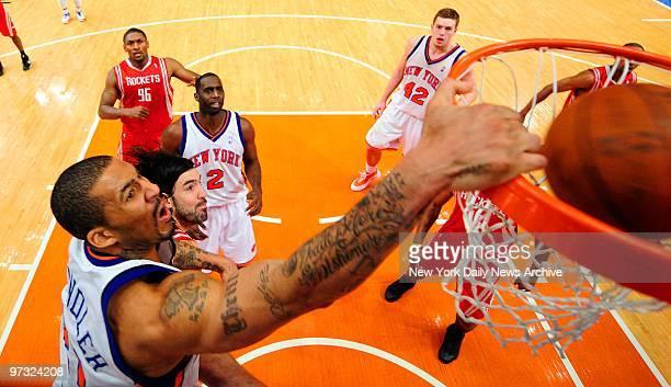 New York Knicks vs Houston Rockets at Madison Square Garden 4th quarter New York Knicks forward Wilson Chandler dunkNicks 104 Rockets 98