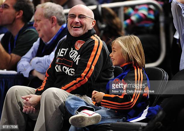 New York Knicks vs Miami Heat at Madison Square Garden 1st half Phil Collins
