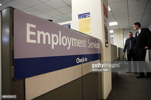 New York Labor Department office is viewed in Manhattan on March 6 2015 in New York City Beating expectations the Labor Department reported on Friday...