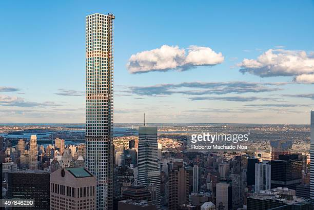 New York landmarks and attractions 432 Park Avenue building highlighting the New York city skyline with its majestic height 432 Park Avenue is a...