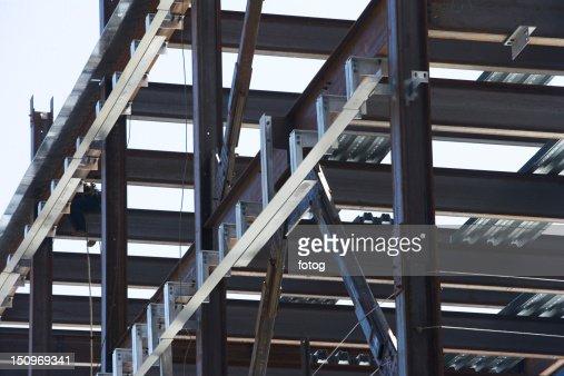 USA, New York, Long Island City, Close up of construction frame