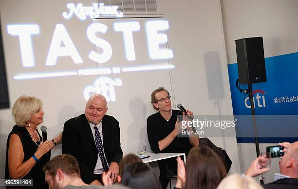 New York Magazine Culinary Editor Gillian Duffy New York Magazine food critic Adam Platt and Blue Hill Restaurant Chef Dan Barber speak on stage...