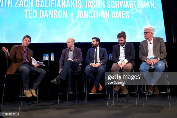 New York Magazine Culture Editor Lane Brown writer/producer Jonathan Ames actor Zach Galifianakis actor Jason Schwartzman and actor Ted Danson speak...