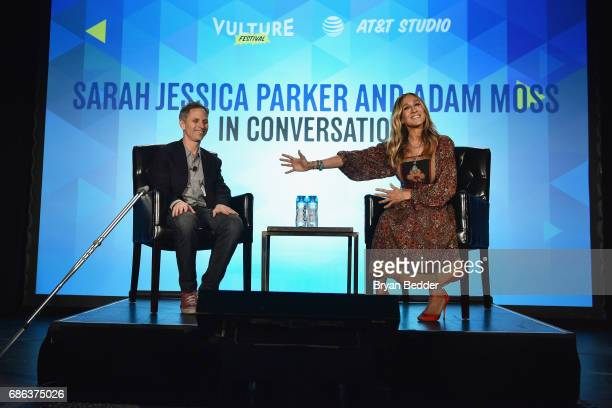 New York Magazine EditorinChief Adam Moss and actress Sarah Jessica Parker speak onstage during Sarah Jessica Parker and Adam Moss In Conversation...