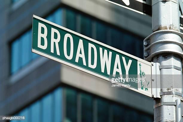 New York, Manhattan, Broadway street sign, close-up