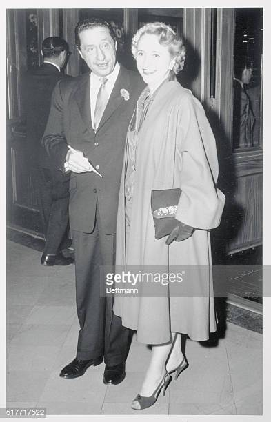 Margaret Truman and her escort song writer Harold Arlen at premiere of Seven Year Itch at Loews Theater in NY