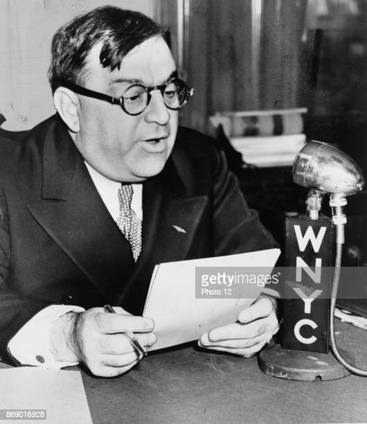 New York Mayor Fiorello H La Guardia speaks over WNYC on Grade A milk from Budget Room Dated 1940