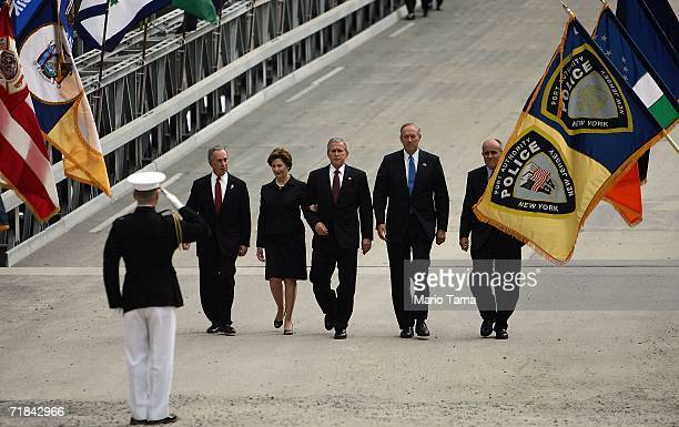 New York Mayor Michael Bloomberg First Lady Laura Bush US President George W Bush New York Governor George Pataki and former New York Mayor Rudolph...