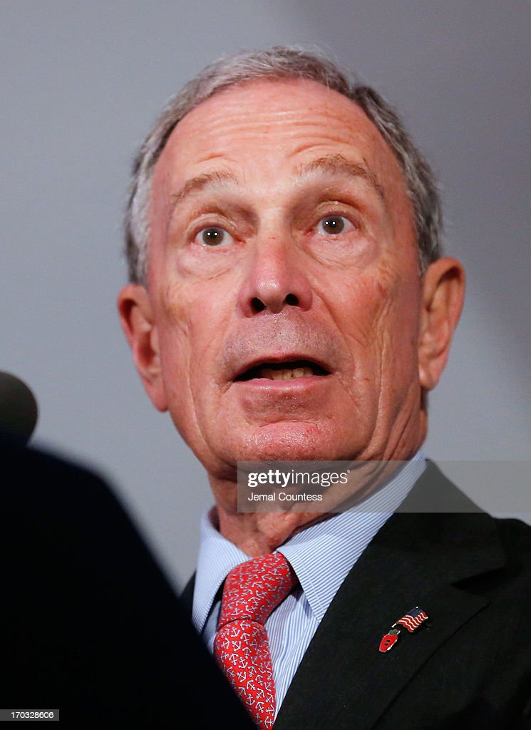 New York Mayor <a gi-track='captionPersonalityLinkClicked' href=/galleries/search?phrase=Michael+Bloomberg&family=editorial&specificpeople=171685 ng-click='$event.stopPropagation()'>Michael Bloomberg</a> speaks at the 8th Annual 'Made In NY Awards' at Gracie Mansion on June 10, 2013 in New York City.