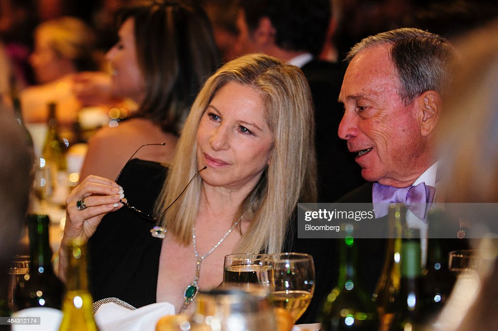 New York Mayor <a gi-track='captionPersonalityLinkClicked' href=/galleries/search?phrase=Michael+Bloomberg&family=editorial&specificpeople=171685 ng-click='$event.stopPropagation()'>Michael Bloomberg</a> talks with actress Barabara Streisand during the White House Correspondents' Association (WHCA) dinner in Washington, D.C., U.S., on Saturday, April 27, 2013. The 99th annual dinner raises money for WHCA scholarships and honors the recipients of the organization's journalism awards. Photographer: Pete Marovich/Bloomberg via Getty Images