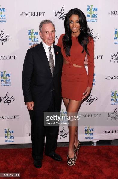 New York Mayor Michael R Bloomberg and singer Ciara attend the 'Ultimate FaceLift' with superstar Ciara to benefit The VH1 Save The Music Foundation...