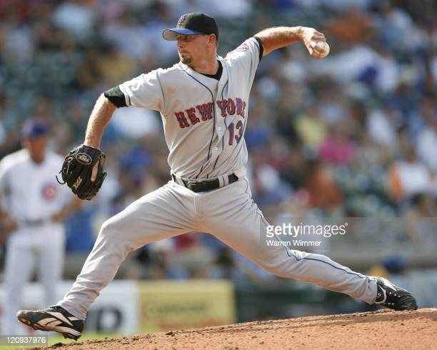 New York Met pitcher Billy Wagner on the mound at Wrigley Field in Chicago Illinois on July 14 2006 The New York Mets over the Chicago Cubs by a...