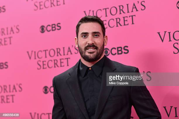New York Mets baseball player Matt Harvey attends the 2015 Victoria's Secret Fashion Show at Lexington Avenue Armory on November 10 2015 in New York...