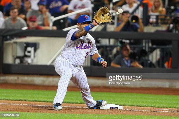 New York Mets first baseman Dominic Smith during the Major League Baseball game between the New York Mets and the New York Yankees on August 16 at...