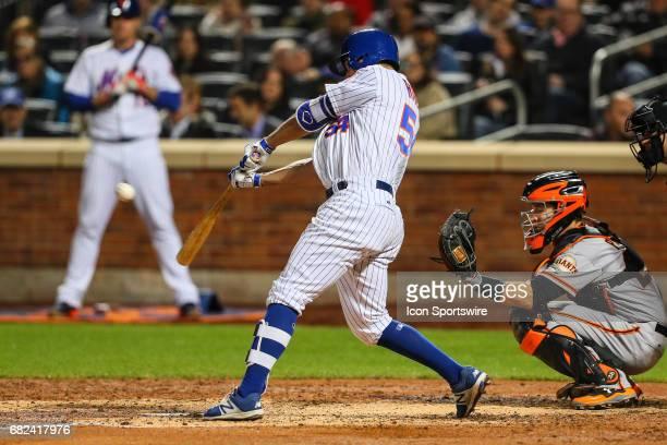New York Mets first baseman TJ Rivera at bat during the Major League Baseball game between the New York Mets and the San Francisco Giants on May 8 at...