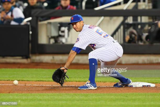 New York Mets first baseman TJ Rivera during the Major League Baseball game between the New York Mets and the San Francisco Giants on May 8 at Citi...