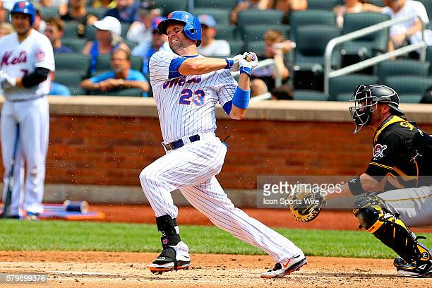 New York Mets left fielder Michael Cuddyer at bat during the game between the New York Mets and the Pittsburgh Pirates played at Citi Field in...
