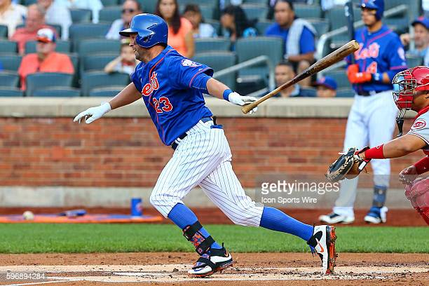New York Mets left fielder Michael Cuddyer during the game between the New York Mets and the Cincinnati Reds played at Citi Field in FlushingNY The...