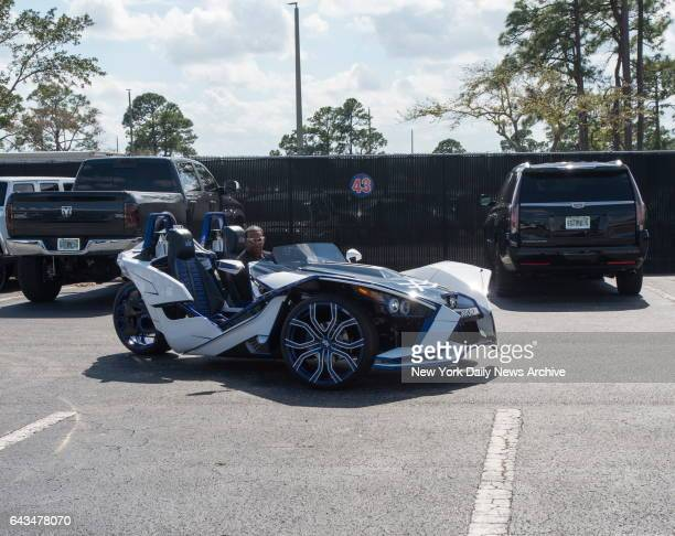 New York Mets left fielder Yoenis Cespedes arives in supercar at the New York Mets Spring Training 2017 in Port St Lucie FL Monday February 20 2017