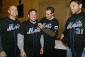 New York Mets' manager Art Howe joins the newest Met Karim Garcia and veterans Al Leiter and Mike Piazza as Mets' Caravan Week kicks off at Grand...
