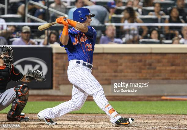New York Mets Outfielder Michael Conforto reaches on a fielding error driving in New York Mets Left Fielder Yoenis Cespedes to put the Mets ahead 31...