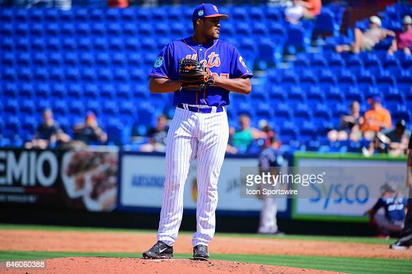 New York Mets pitcher Jeurys Familia prepares to deliver a pitch during a Spring Training game between the Houston Astros and New York Mets on...