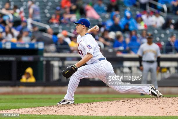 New York Mets Pitcher Paul Sewald on the mound during a regular season MLB game between the Pittsburgh Pirates and the New York Mets on June 04 at...
