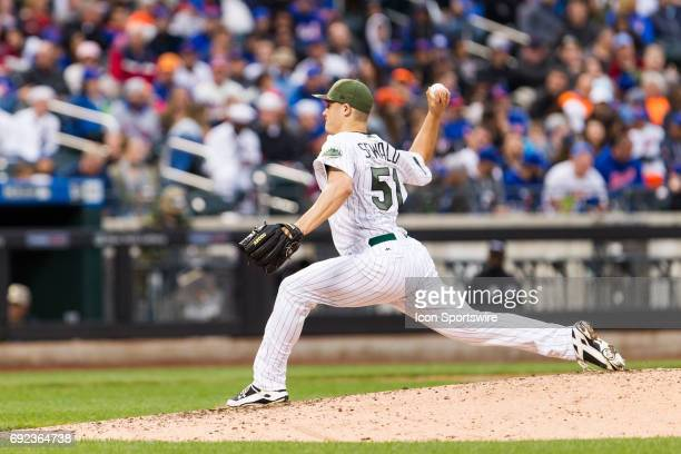 New York Mets Pitcher Paul Sewald on the mound during a regular season MLB game between the Milwaukee Brewers and the New York Mets on May 29 at Citi...
