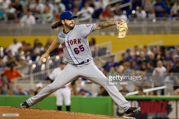 New York Mets pitcher Robert Gsellman works against the Miami Marlins on Tuesday June 27 at Marlins Park in Miami