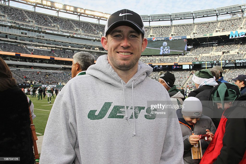 New York Mets player Mike Baxter attends San Diego Chargers vs New York Jets game at MetLife Stadium on December 23, 2012 in East Rutherford, New Jersey.