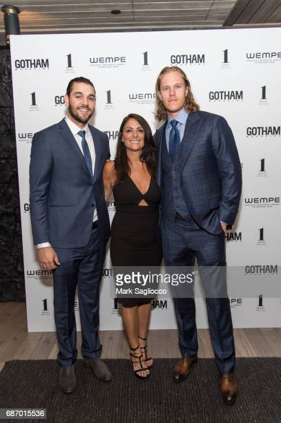 New York Mets Player Robert Gsellman Publisher Lynn Scotti Kassar and New York Mets Pitcher Noah Syndergaard attend Gotham Magazine's Celebration of...