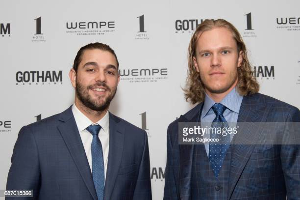 New York Mets Players Robert Gsellman and Noah Syndergaard attend Gotham Magazine's Celebration of it's Late Spring Issue with Noah Syndergaard at 1...