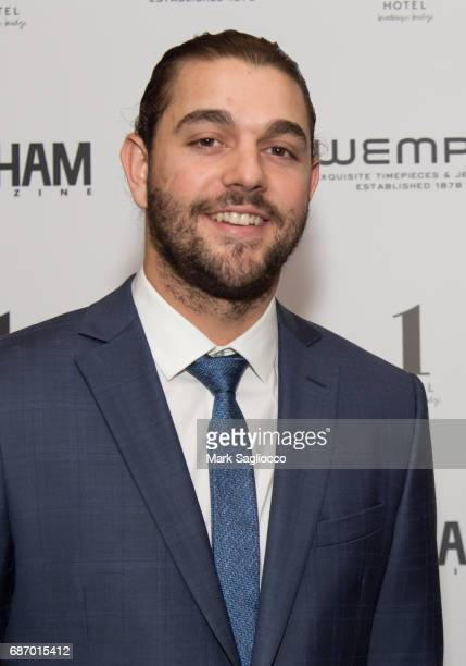 New York Mets Players Robert Gsellman attends Gotham Magazine's Celebration of it's Late Spring Issue with Noah Syndergaard at 1 Hotel Brooklyn...