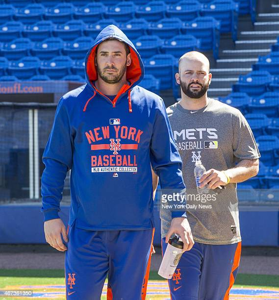New York Mets starting pitcher Matt Harvey New York Mets starting pitcher Dillon Gee Howard Simmons/NY Daily News via Getty Images
