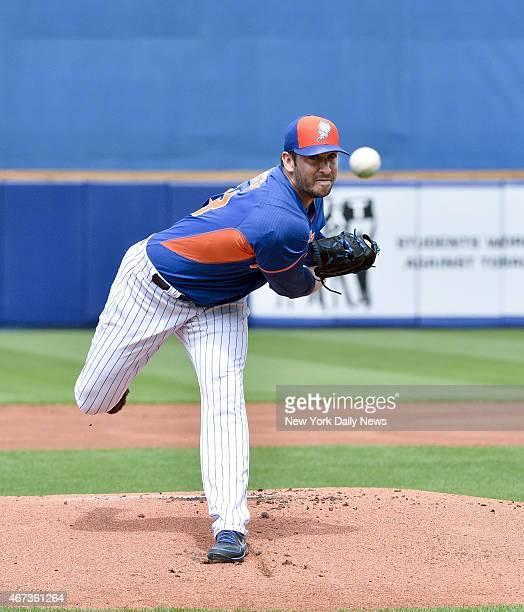 New York Mets starting pitcher Matt Harvey start his 1st game since injury