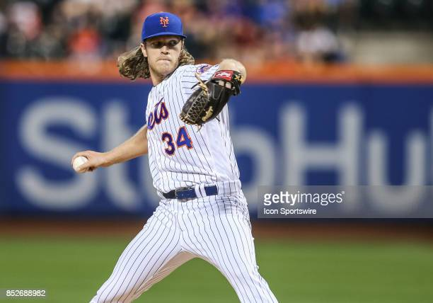 New York Mets Starting Pitcher Noah Syndergaard in action during the first inning of the Major League Baseball game between the Washington Nationals...