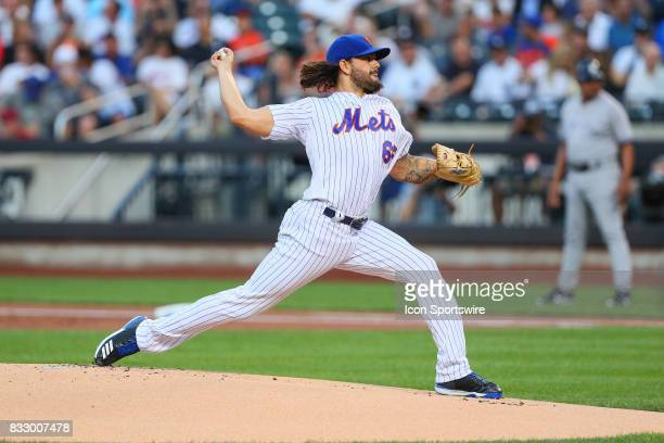 New York Mets starting pitcher Robert Gsellman pitches during the first inning of the Major League Baseball game between the New York Mets and the...